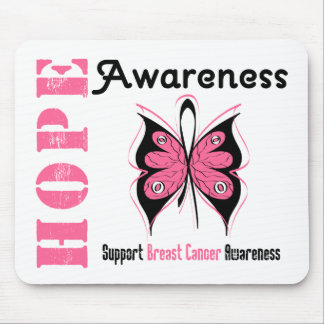 Hope Awareness Butterfly Breast Cancer Mousepad