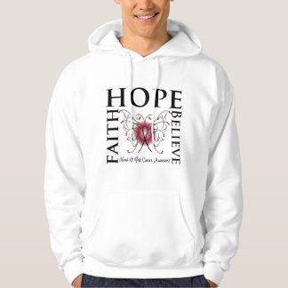 Hope Believe Faith - Head and Neck Cancer Hooded Pullover