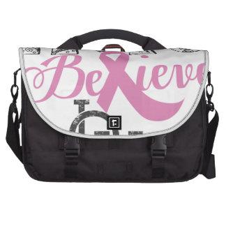 Hope Believe Love - Breast Cancer Awaren Laptop Bags