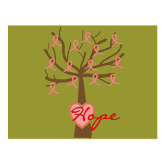 """Hope"", Breast Cancer Awareness Gifts Postcard"