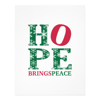 Hope Brings Peace Customized Letterhead