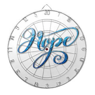 HOPE BRUSH LETTERING CALLIGRAPHY DARTBOARD
