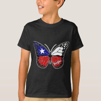 Hope Butterfly Chile Flag T-Shirt