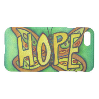Hope Butterfly Inspirational Word iPhone 7 Case