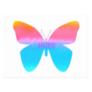 Hope Butterfly Postcard