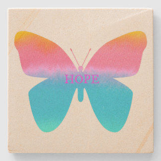 Hope Butterfly Sandstone Coaster