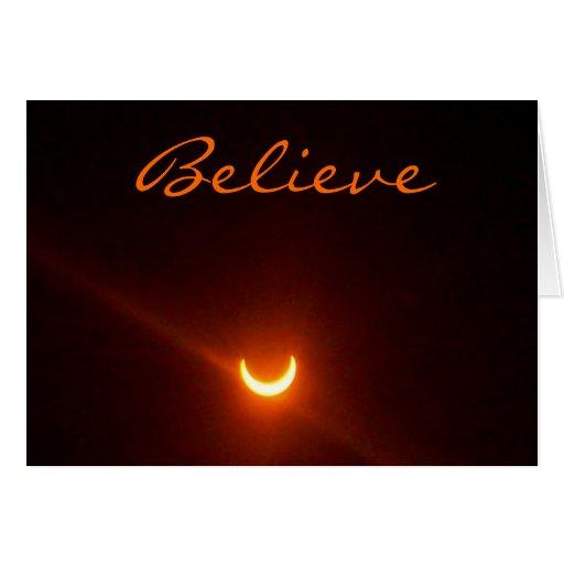 Hope card, believe. eclipse.