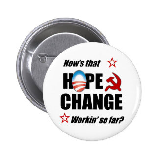 Hope Change Pinback Buttons