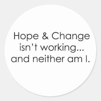 Hope & Change Round Sticker