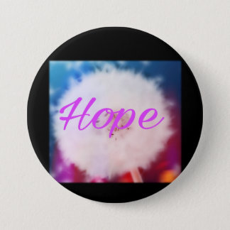 Hope. Colourful dandelion wish 3 Inch Round Button