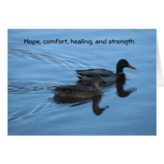 Hope, comfort, healing, and strength card