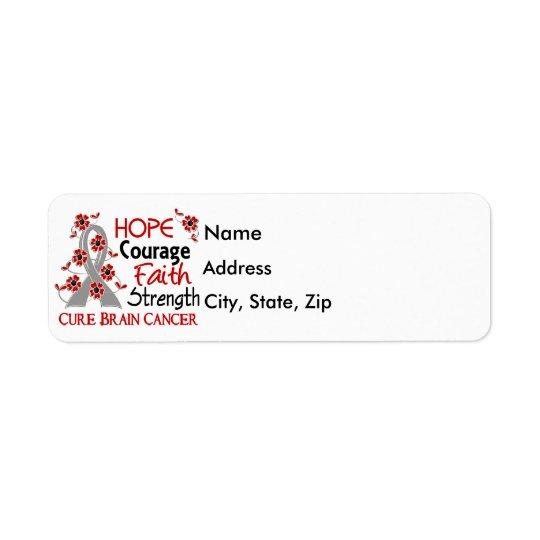 Hope Courage Faith Strength 3 Brain Cancer Return Address Label