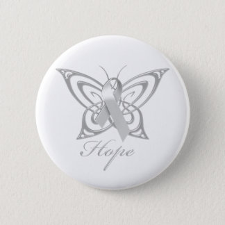 Hope Diabetes Awareness Butterfly 2 Inch Round Button