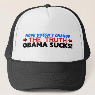 Hope Doesn't Change The Truth: Obama Sucks! Trucker Hat