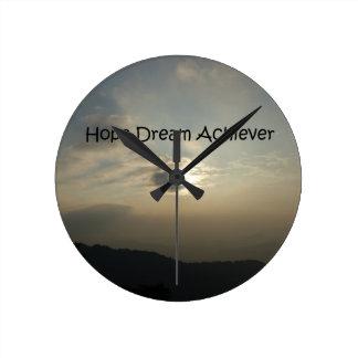 Hope Dream Achieve Wallclock