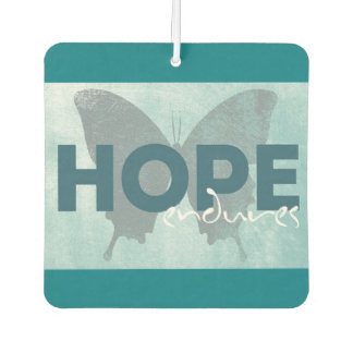 Hope Endures Turquoise and Gray Car Air freshener