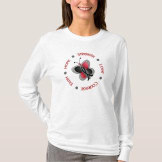 Hope Faith Courage Melanoma Butterfly T-Shirt