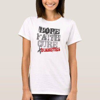 HOPE. FAITH. CURE. DIABETES T-Shirt