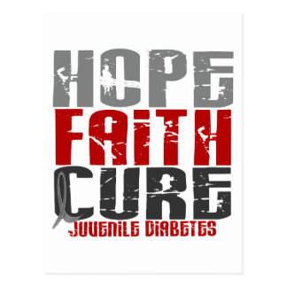 Hope Faith Cure Juvenile Diabetes Postcard