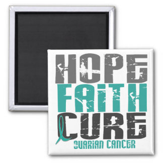 HOPE FAITH CURE OVARIAN CANCER MAGNET