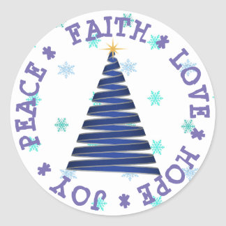 HOPE FAITH LOVE JOY CHRISTMAS STICKER