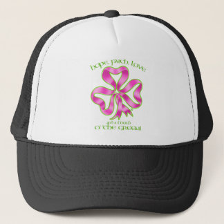 Hope, Faith & Love Shamrock Ribbon Trucker Hat