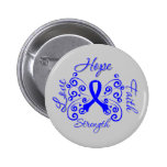 Hope Faith Love Strength Rectal Cancer 2 Inch Round Button