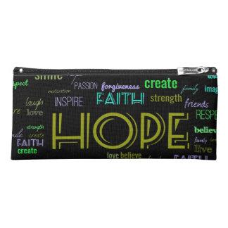 Hope faith word art pencil case