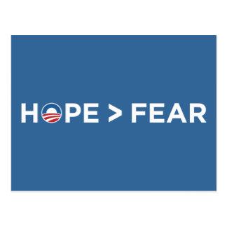 hope > fear obama 2008 hope won post cards