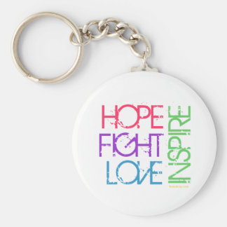 Hope, Fight, Love, Inspire Keychain