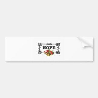 hope flower basket bumper sticker