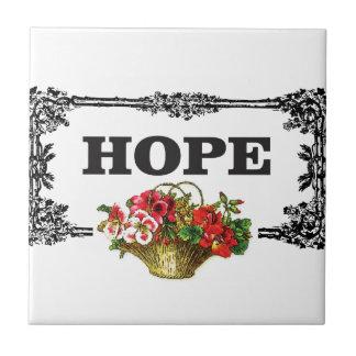 hope flower basket tiles