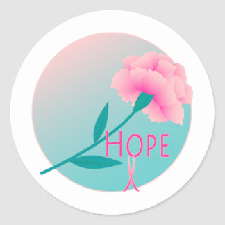 Hope Flower Round Sticker