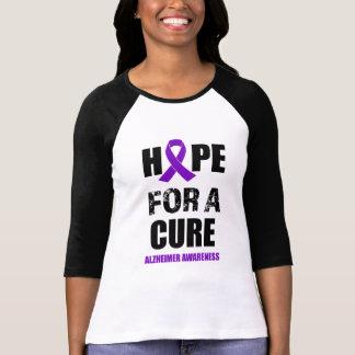 Hope for a Cure Alzheimer Awareness womens  shirt