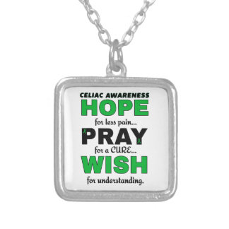 Hope For A Cure...Celiac Silver Plated Necklace