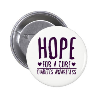 Hope For A Cure - Diabetes Awareness Button