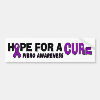 Hope For A Cure...Fibro Bumper Sticker
