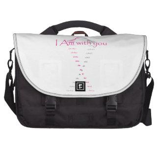 Hope for a cure for Breast Cancer Laptop Messenger Bag