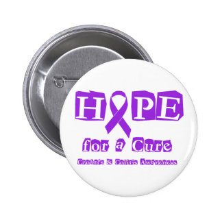 Hope for a Cure for Crohn's & Colitis 2 Inch Round Button