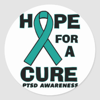 Hope For A Cure PTSD Round Sticker