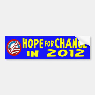 Hope for Change in 2012 Bumper Sticker