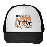Hope For My Sister Multiple Sclerosis MS Trucker Hat