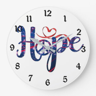 Hope For Peace Wall Clock