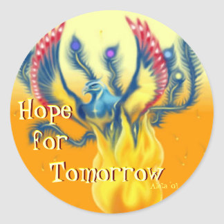 Hope for Tomorrow Classic Round Sticker