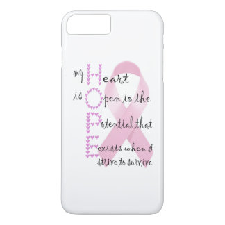 Hope from heart to fight against cancer iPhone 7 plus case