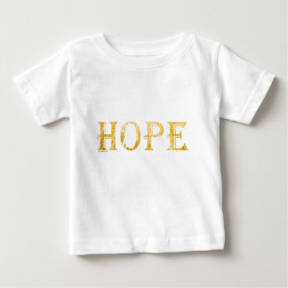 Hope Gold Text Baby Fine Jersey T-Shirt