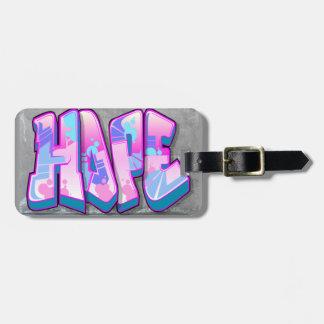 Hope Graffiti Luggage Tag