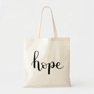 Hope Hand Lettered Tote Bag