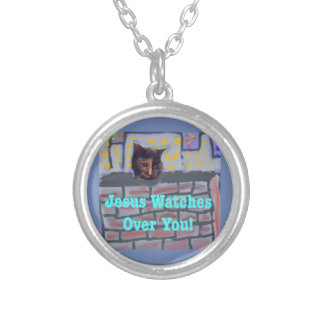 Hope Healing Church Christian Cat Necklace Pendant