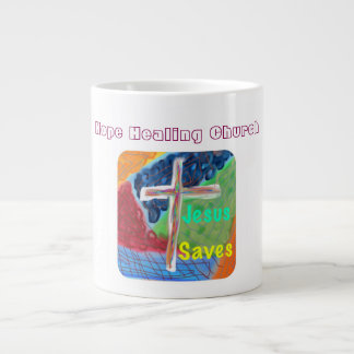 Hope Healing Church Christian Cross Coffee Mug Cup